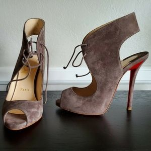 Brand New Christian Louboutin Allegra 120 Suede Si